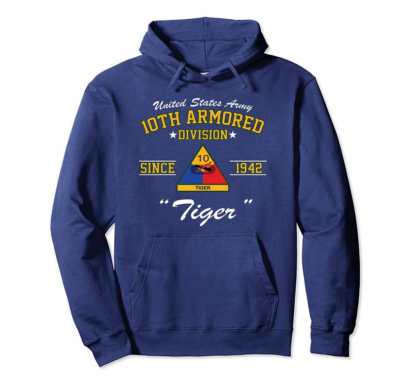 10th Armored Division Pullover Hoodie