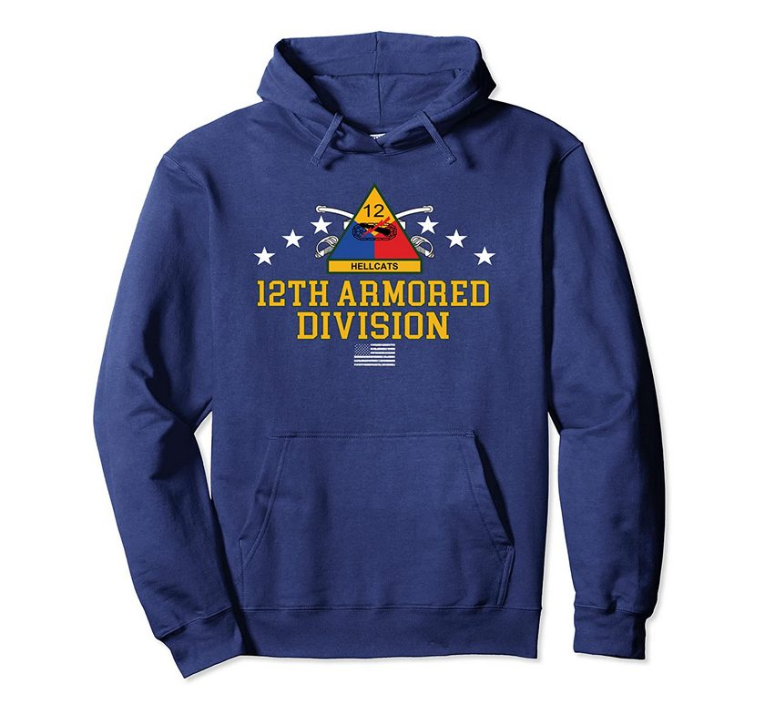12th Armored Division Pullover Hoodie 3