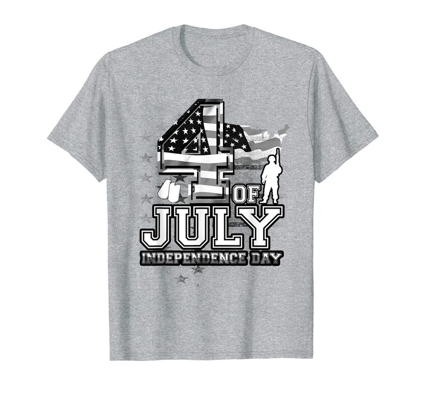 4th Of July American Soldier U.s Patriot Army America Flag T-shirt