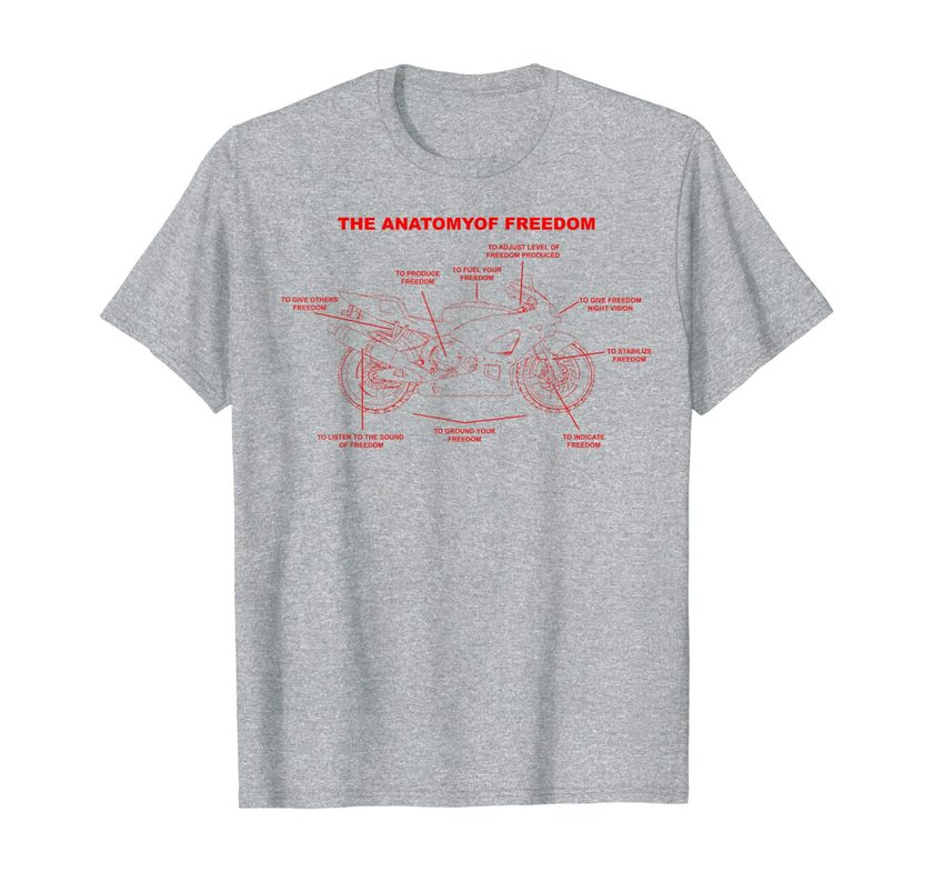 the anatomy of freedom cute supermotos gift t shirt 2 1 - Classic Shop